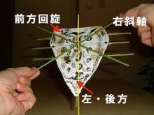 仙骨右斜軸模型