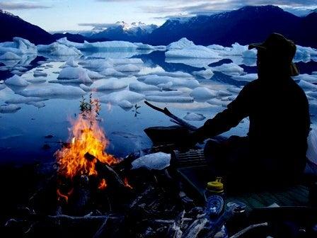 fire by glacier