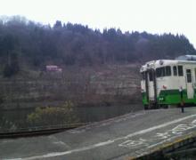 福島からの帰り道は電車の旅。