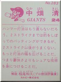 プロ野球カード倶楽部-ナカハタ3