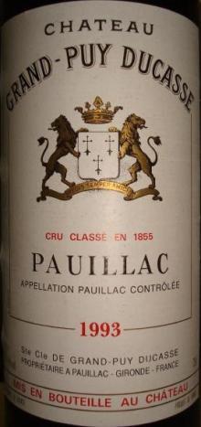 Ch Grand Puy Ducasse 1993