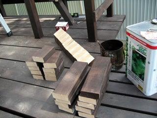 ウッドデッキ 梯子作り